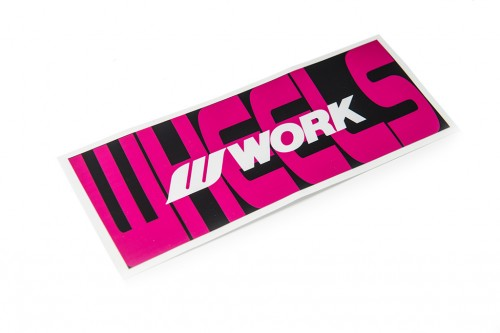 WORK Black/Magenta Sticker (W140001)