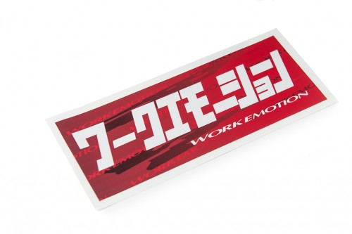 Emotion Katakana Sticker Red/White (W140025)