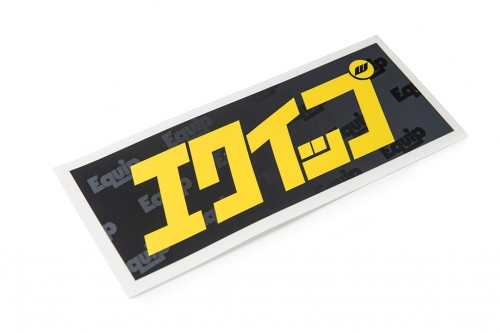 Equip Katakana Sticker Black/Yellow (W140027)