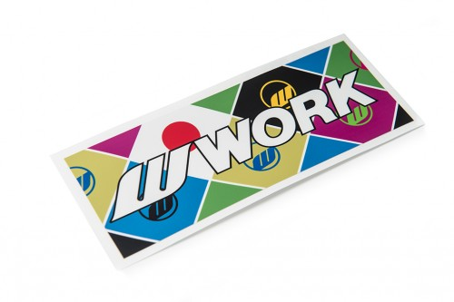WORK Flag Sticker (W140004)