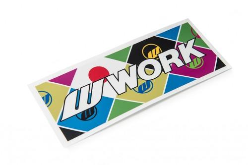 WORK Flag Sticker (W140004)