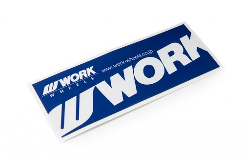 WORK Sticker Blue/White (W140002)