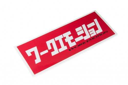 Emotion Katakana Sticker Red/White (W140017)