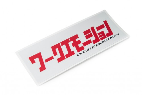 Emotion Katakana Sticker White/Red (W140018)