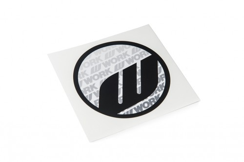 WORK Circle Sticker Black (W140006)