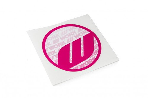 WORK Circle Sticker Pink (W140007)