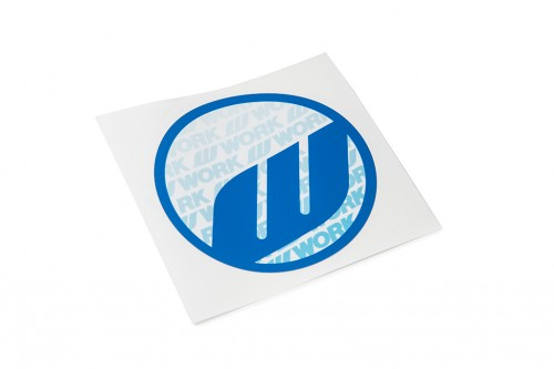 WORK Circle Sticker Blue (W140008)