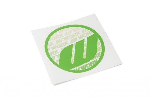 WORK Circle Sticker Green (W140009)