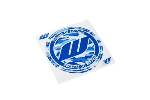 WORK Circle Camo Sticker Blue (W140016)