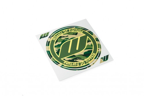 WORK Circle Camo Sticker Green (W140013)