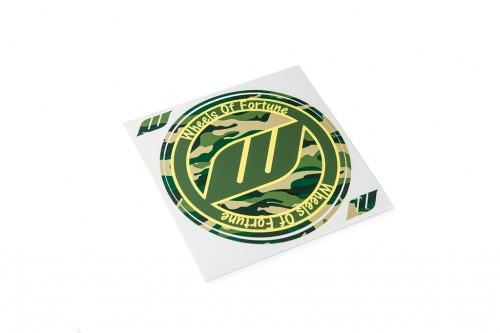 WORK Circle Camo Sticker Green (W140013)