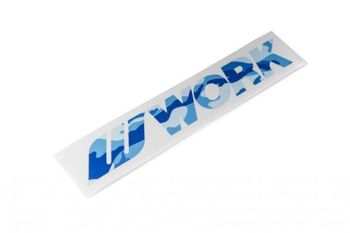 WORK Camo Sticker Blue (W140038)