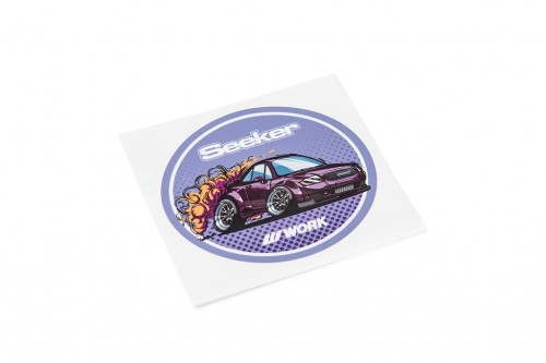 Seeker Oval Sticker Purple (W140040)