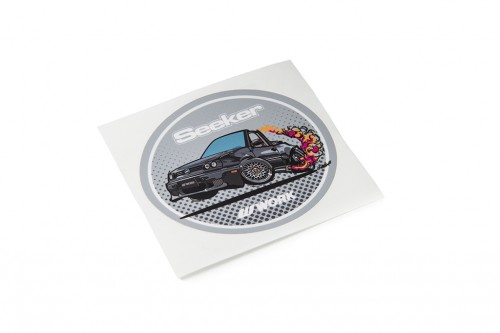 Seeker Oval Sticker Gray (W140041)