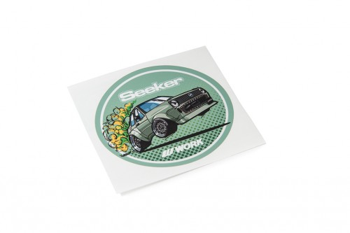 Seeker Oval Sticker Green (W140039)