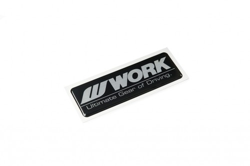 WORK Dome Decal Black/Silver