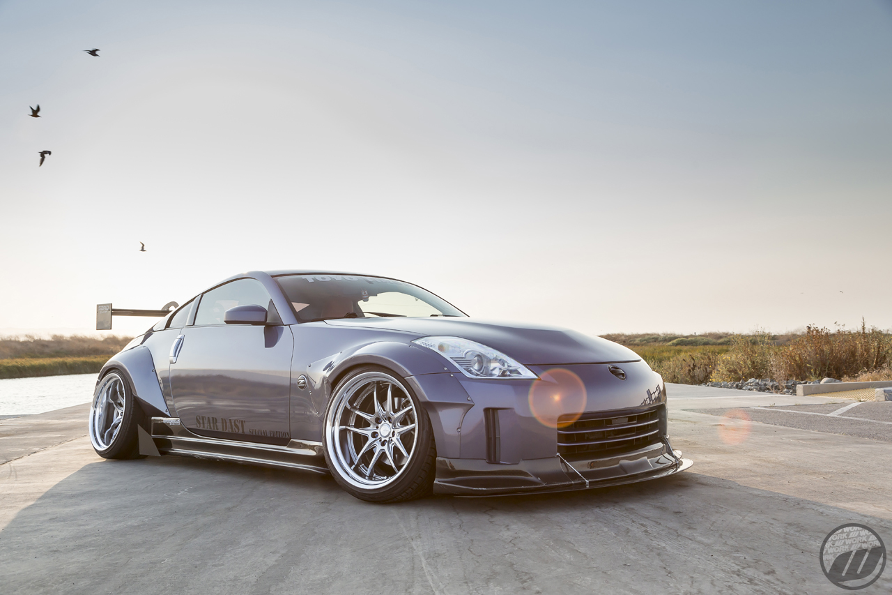 "Hoang Le's Nissan 350Z on WORK XSA 04C (19"") in Crystal Silver (CS) Finish - Photo by WORK Wheels Japan"