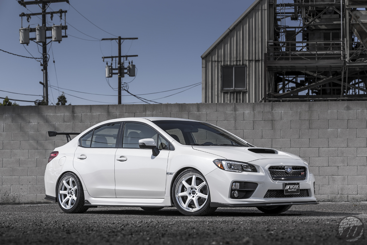 WORK Wheels USA Subaru STI on WORK Emotion T7R 2P (18″) in White (WHT) Finish – Photo by WORK Wheels Japan