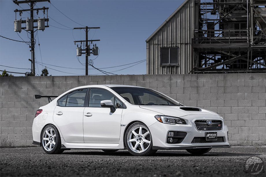 Subaru STI on WORK Emotion T7R 2P (WHT)