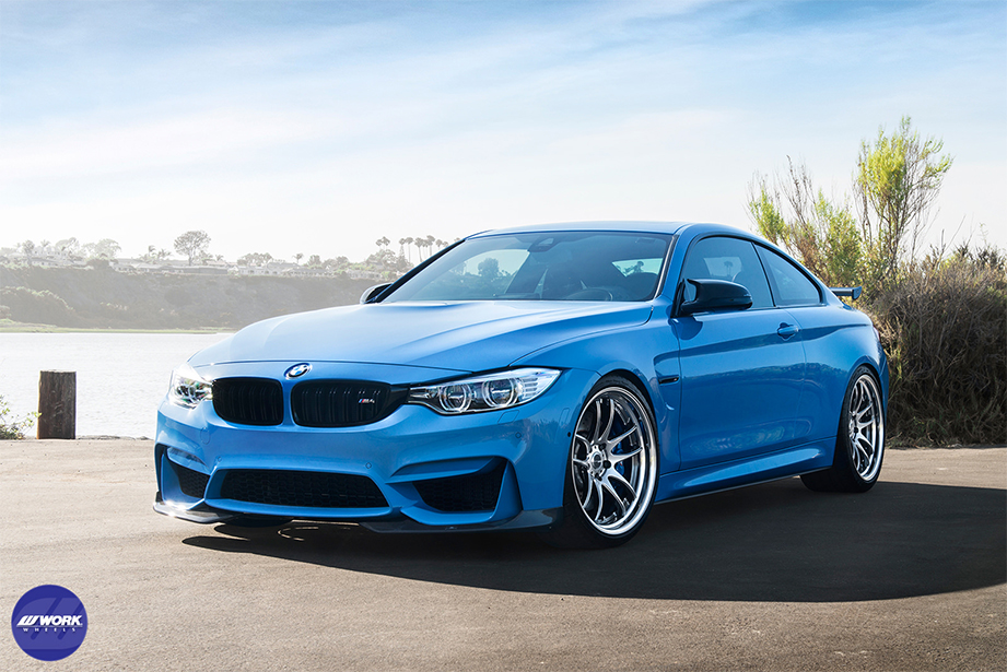 "Yas Marina Blue BMW M4 (F82) on WORK Emotion CR 2P 20"" (GTS)"