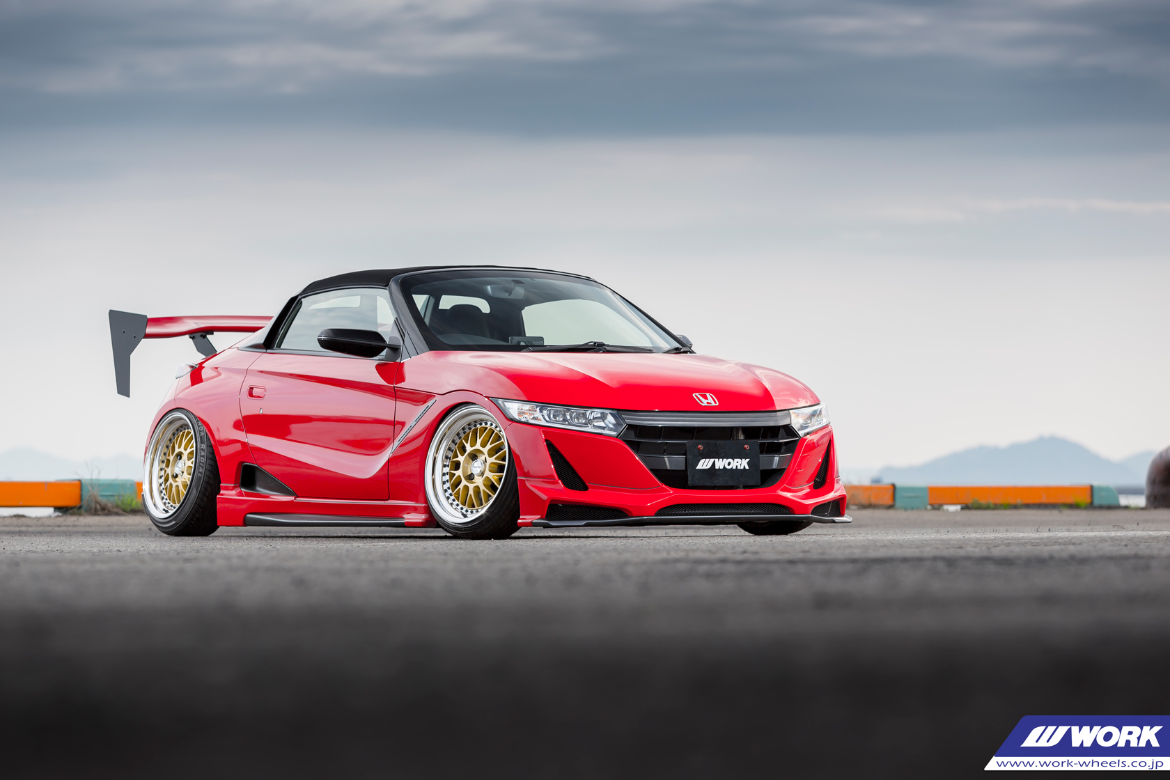 GRAND PRIX Honda S660 on WORK Meister M1 3P in Gold (GLD) Finish – Photo by WORK Wheels Japan