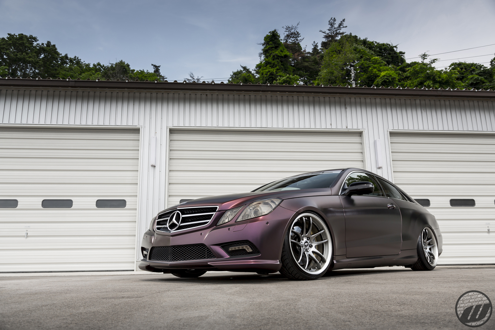 FESSEL Mercedes Benz E Class on WORK Emotion CR2P in GT Silver (GTS) Finish – Photo by WORK Wheels Japan