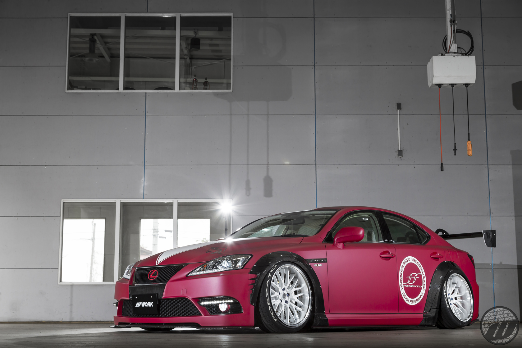 FORZATO Lexus IS on WORK Gnosis GR204 in White (WHT) Finish – Photo by WORK Wheels Japan